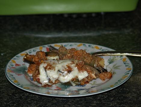 Quinoa (or Bulgur) Eggplant Dish