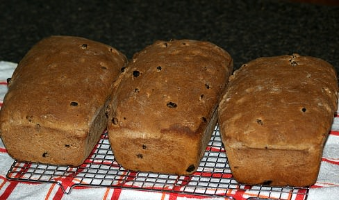 Three Loaves of Raisin Bread