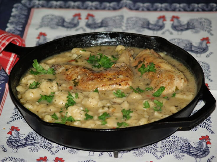 Basil Chicken and Dumplings Recipe