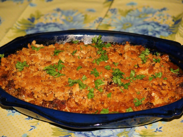 Chicken Cassoulet Recipe in a Baking Dish