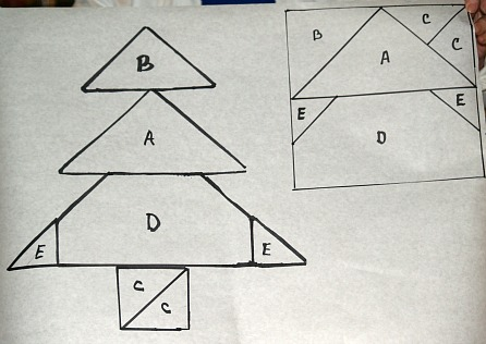 diagram to make christmas tree cake