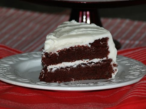 Chocolate Red Devil's Food Cake