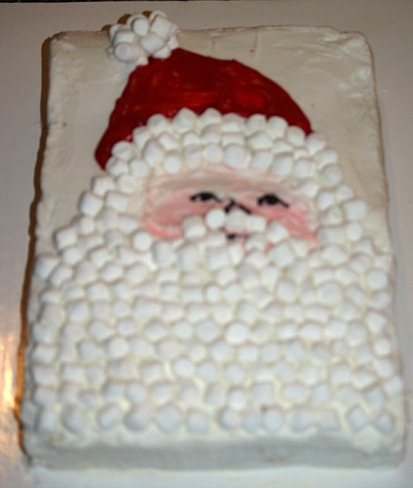 how to make santa clause cake with a spiced ginger cake recipe