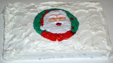 Spiced Oatmeal Santa Claus Cake