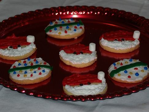 Santas and Christmas Bulb Cookies
