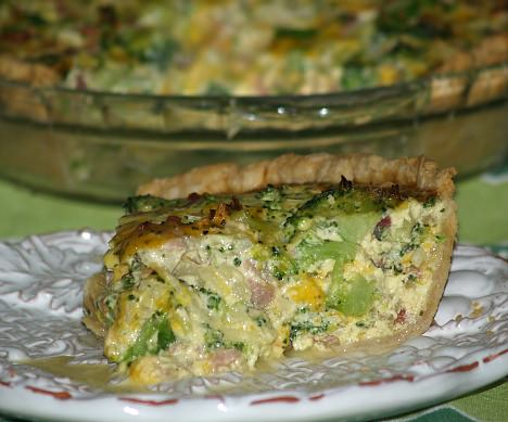 Broccoli and Ham Quiche Lorraine