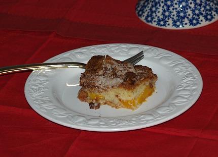 piece peach cake