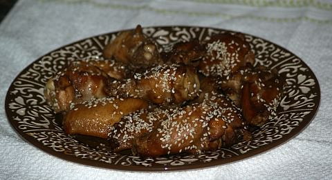 sesame chicken wings