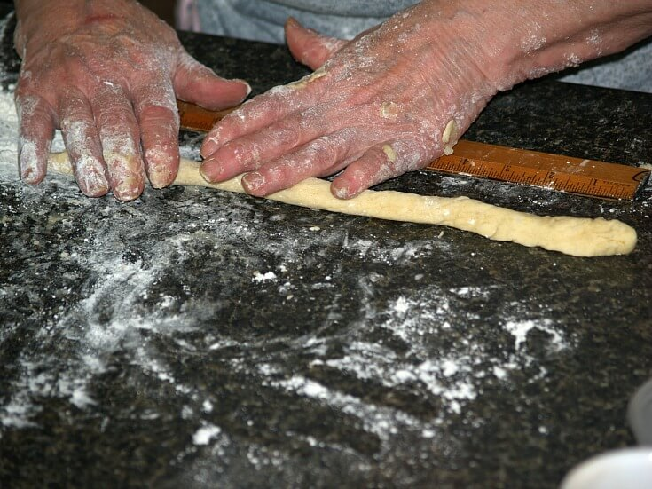 Rolling the Pretzel Dough