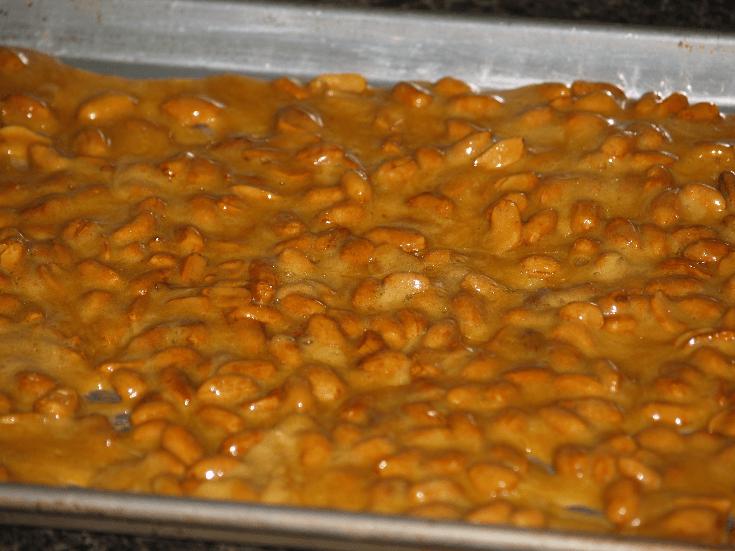Sister Gloria's Peanut Brittle Cooling
