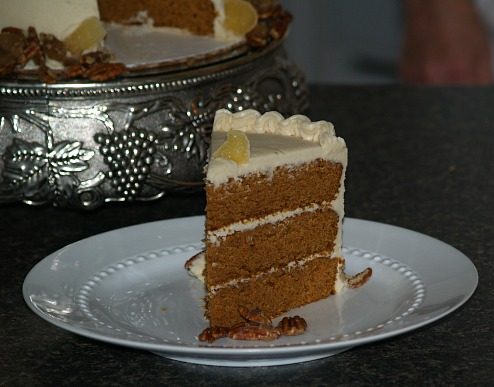 BROWN BUTTER PUMPKIN LAYER CAKE (with brown butter cream frosting)