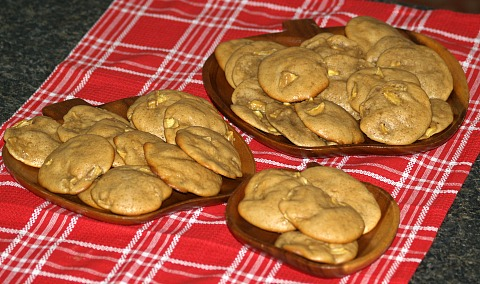 Soft Molasses Apple Cookies