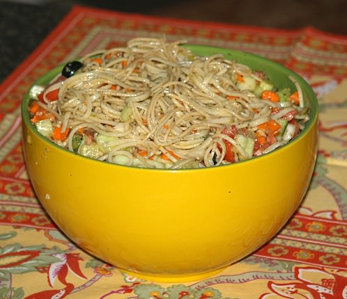 Spaghetti Salad for a Crowd