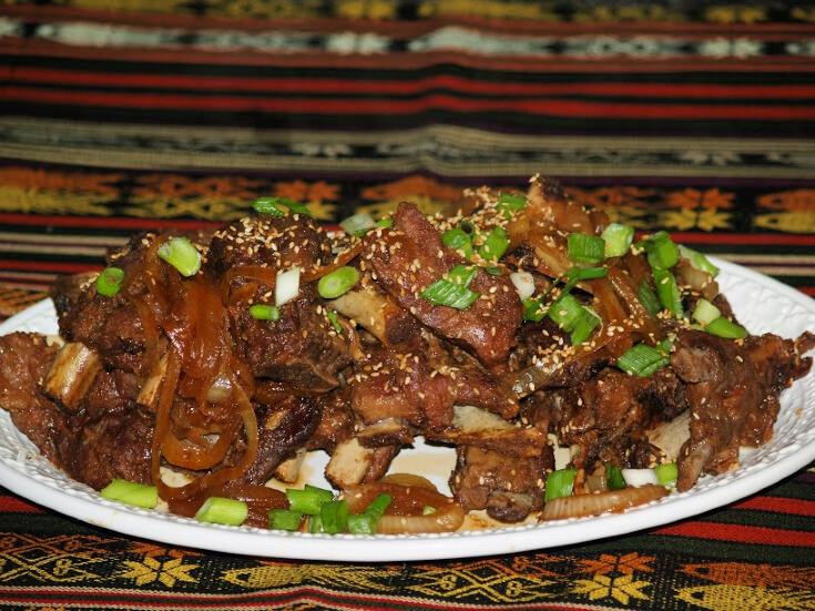 Slow Cooker Sesame Pork Ribs