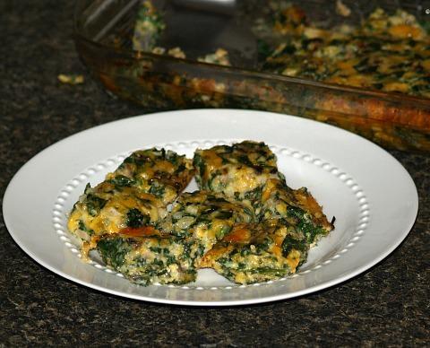 Spinach Casserole Appetizer Cubes