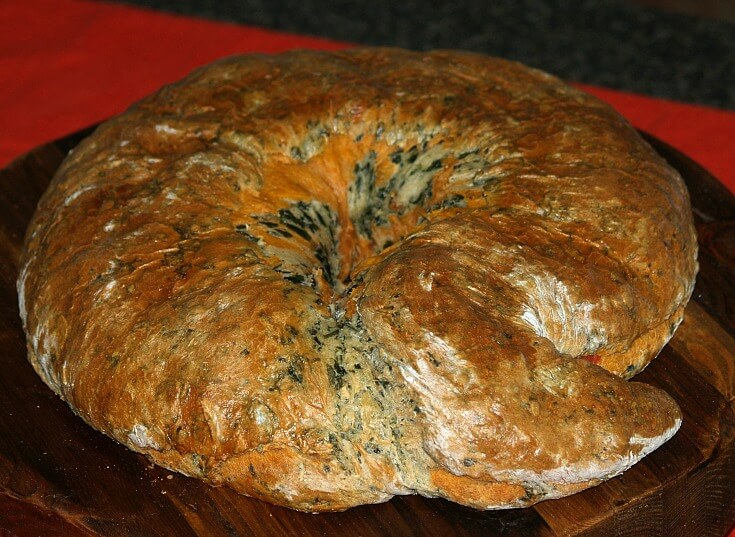 Spinach Tomato Bread Recipe
