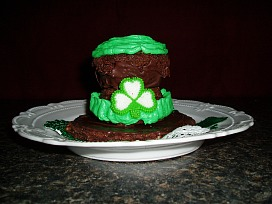 st patricks day desserts like this chocolate cupcake