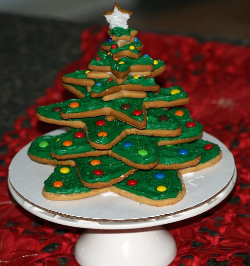 Star Cookie Christmas Tree