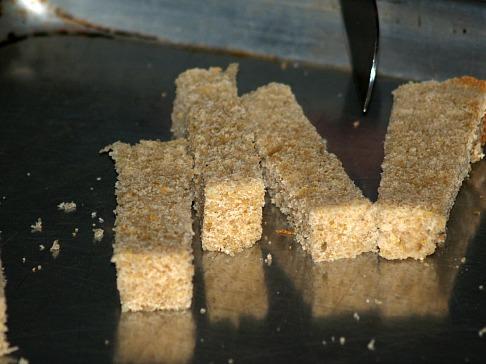 Bread Cut Into Strips