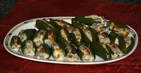 Stuffed Baked Jalapeno Peppers