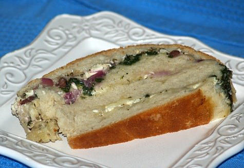 Stuffed Greek Bread Recipe