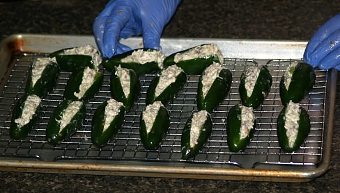 Stuffed Unbaked Jalapeno Peppers