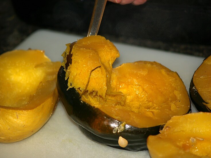 Removing Pulp from Squash