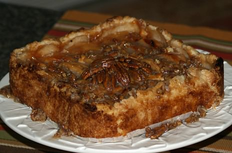 Sugar Free Apple Cheesecake Recipe with Optional Rum Sauce