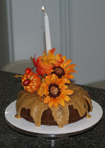 apple carrot cake makes an easy thanksgiving centerpiece