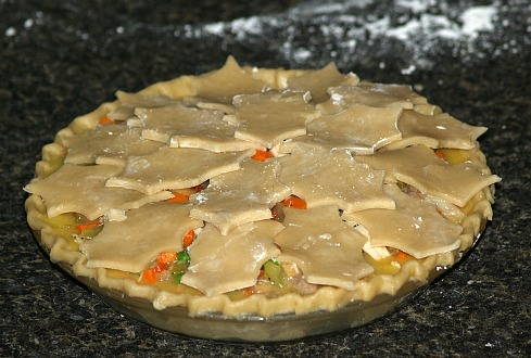 Turkey Pot Pie Ready for the Oven