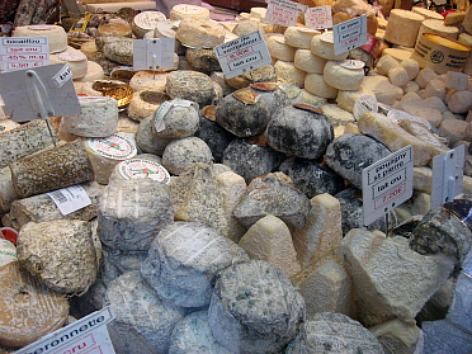selction of french cheeses