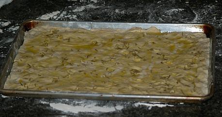 Unbaked Focaccia Flatbread