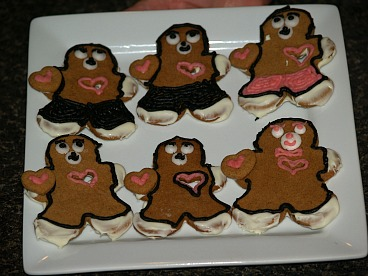 Gingerbread Teddy Bear Cookies for Valentines Day