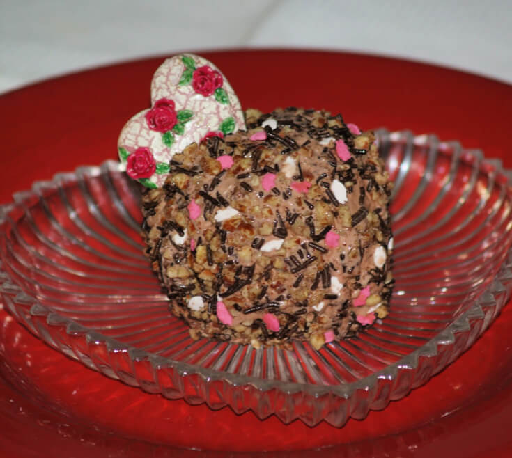 Chocolate Ice Cream Confetti Balls