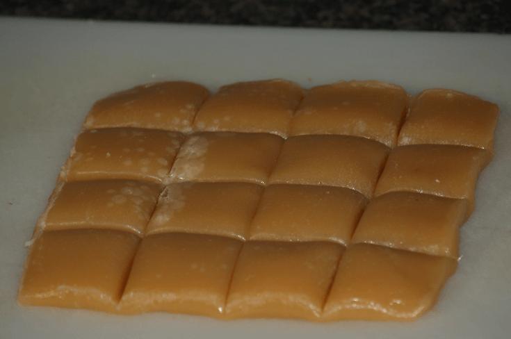 Vanilla Caramel Candy Recipe Cut