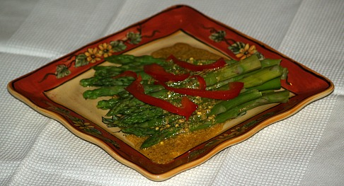 Warm Asparagus Salad Recipe with Hot Mustard Sauce Recipe