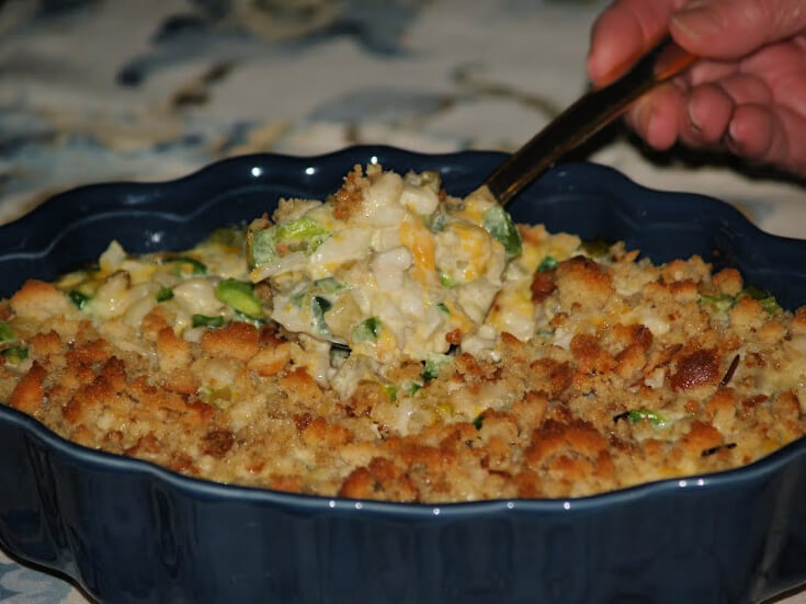 Baked Hominy with Cheese