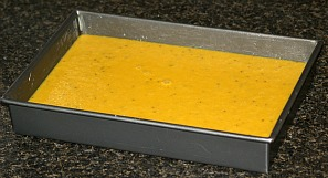 Yellow Cake with turmeric and Almonds