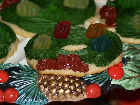 Holiday Sugar Cookie Recipe Decorated with Gummi Bears
