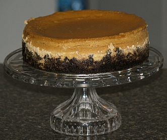 chocolate cookie crust amaretto cheesecake