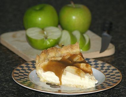 piece of caramel apple cheesecake recipe