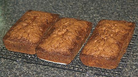Three Loaves of Apple Zucchini Bread