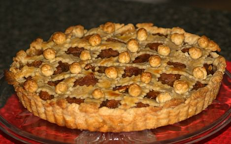 Whole Apricot Tart Recipe with Apples