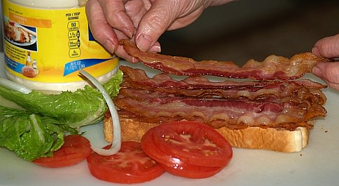 Preparing a Bacon Lettuce Tomato Sandwich