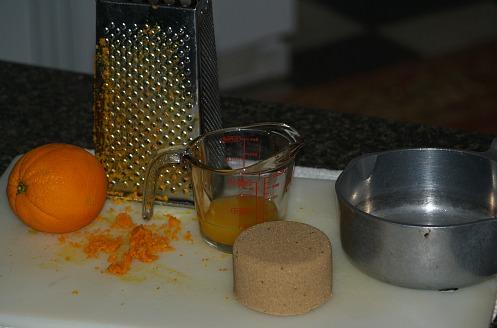 Ham Glaze Made with Brown Sugar and Oranges