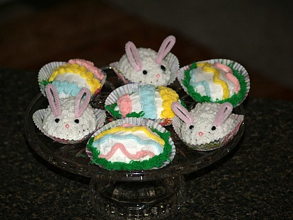 Surprise Cupcakes Baked in an Egg Shaped Pan