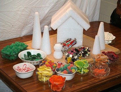 Prepping Christmas Candyland Supplies