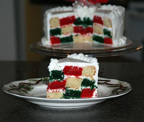 how to make homemade christmas gift food like a checkerboard cake recipe