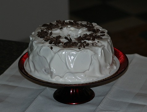 chocolate angel food cake recipe with marshmallow frosting