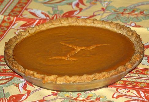 Chocolate Lined Pumpkin Pie